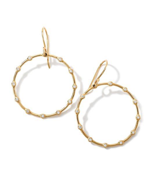 Ippolita | Metallic 18k Gold Stardust Diamond Circle Earrings (0.16ctw) | Lyst