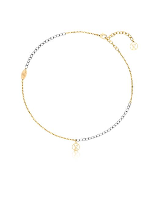 Louis Vuitton | Metallic Logomania Necklace | Lyst