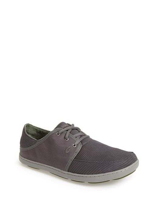 Olukai | Gray 'nohea' Lace Up Sneaker for Men | Lyst