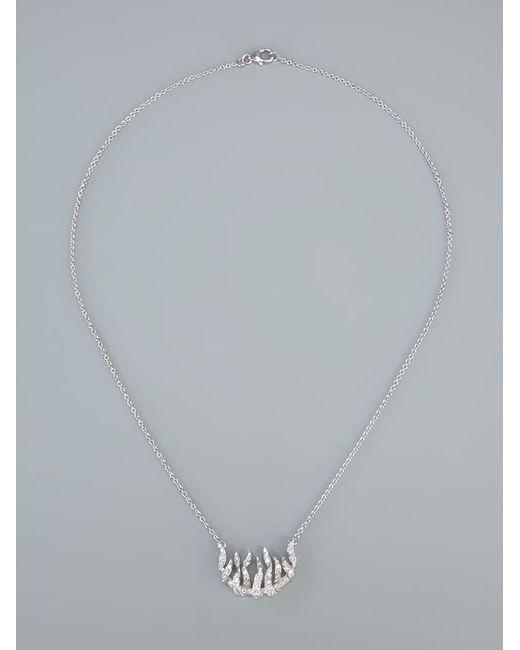 Garrard | Metallic 'fire Of London' Pendant Necklace | Lyst