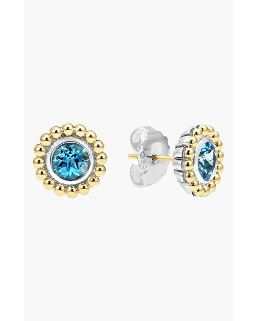Lagos | Blue Stone Stud Earrings | Lyst