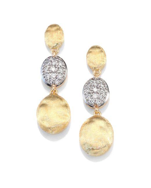 Marco Bicego   Metallic Siviglia Diamond & 18k Yellow Gold Triple-drop Earrings   Lyst