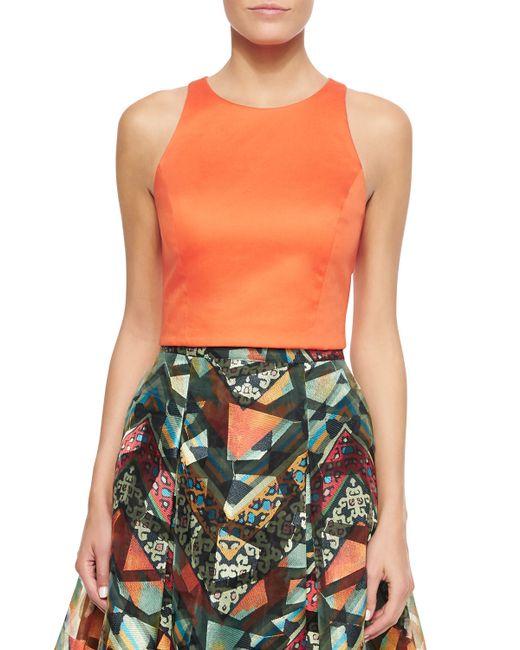 Sachin & Babi | Orange Sleeveless Cutout-back Crop Top | Lyst