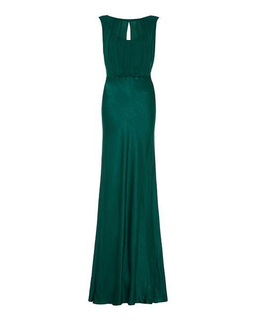 Ghost | Green Claudia Dress Emerald Sea Dto | Lyst