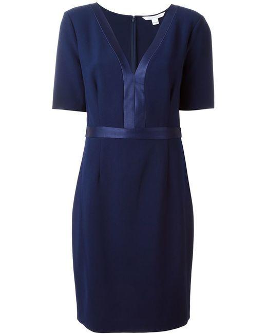 Diane von Furstenberg | Blue Maisie Cotton-Blend Dress | Lyst