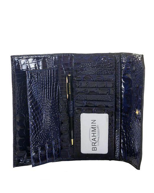 Brahmin   Blue Melbourne Soft Checkbook Wallet   Lyst