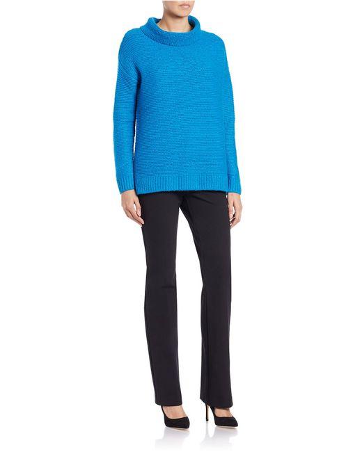 424 Fifth | Blue Funnelneck Sweater | Lyst