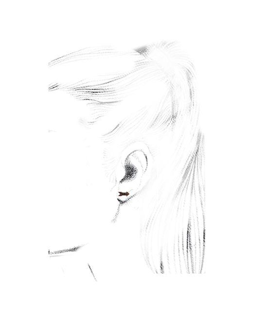 Sydney Evan   Pink Arrow Stud Earrings   Lyst
