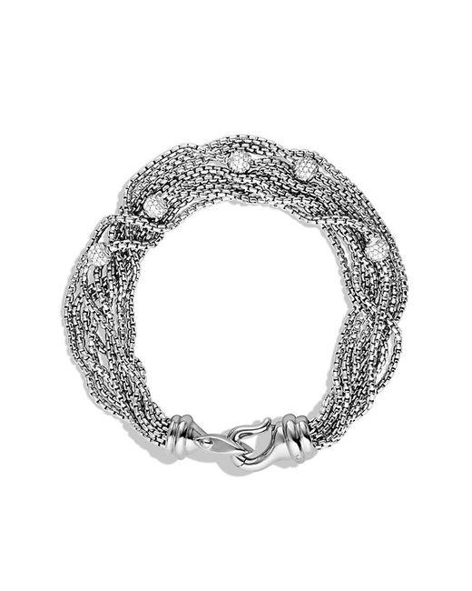 David Yurman   White Eight-row Chain Bracelet With Diamonds   Lyst
