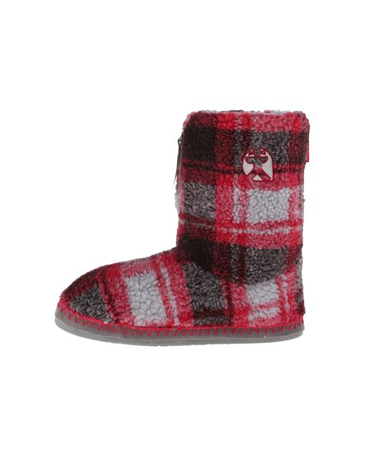 Bedroom Athletics | Red Macgraw Checked Slipper Boot | Lyst