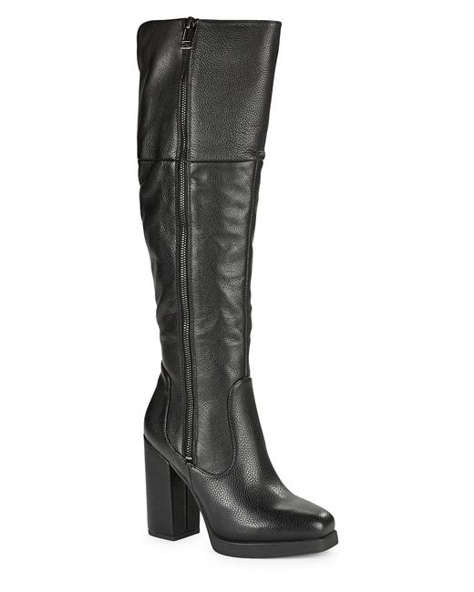 Circus by Sam Edelman | Black Hollands Leather Block-heel Boots | Lyst