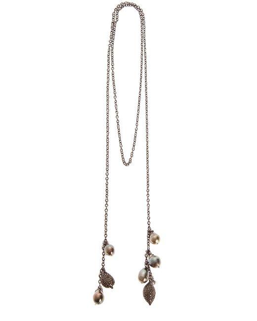 Samira 13 | Black Silver Charm Necklace | Lyst