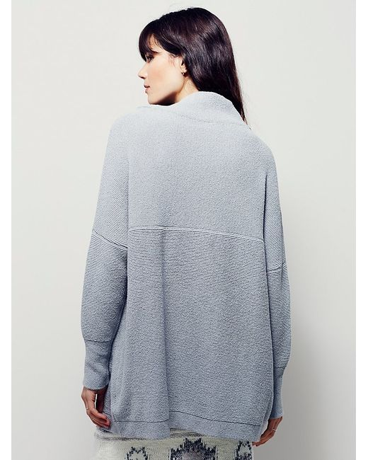 Free People Ottoman Slouchy Tunic In Gray Oyster Grey Lyst