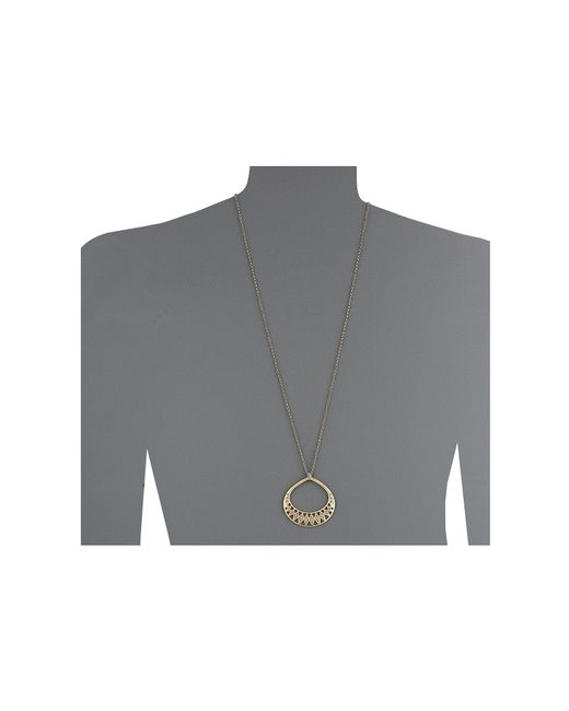 The Sak | Metallic Blush Openwork Pendant Necklace | Lyst