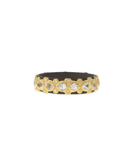 Armenta | Metallic Pear Sapphire & Diamond Band Ring | Lyst