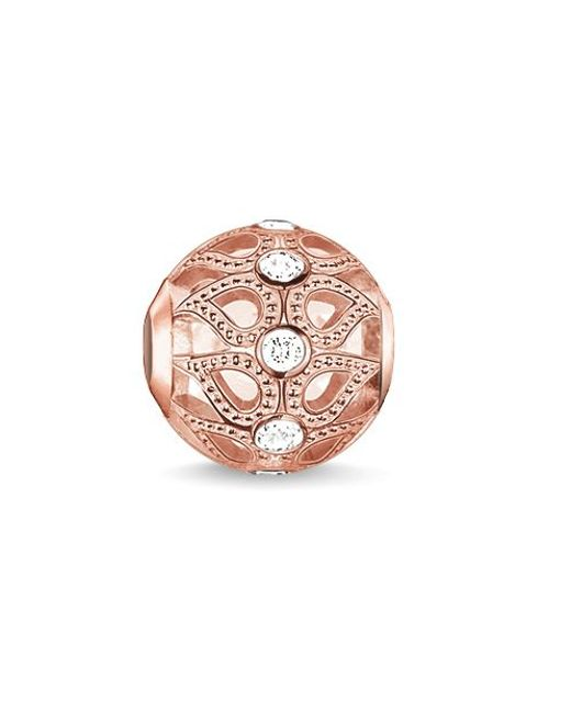 Thomas Sabo | Pink Karma Beads Rose Dew Drop Bead | Lyst