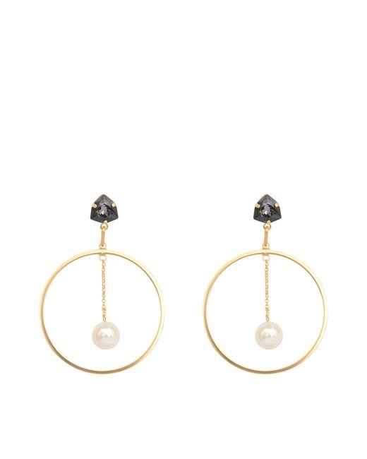Helene Zubeldia | Metallic Crystal Pearl Earrings | Lyst