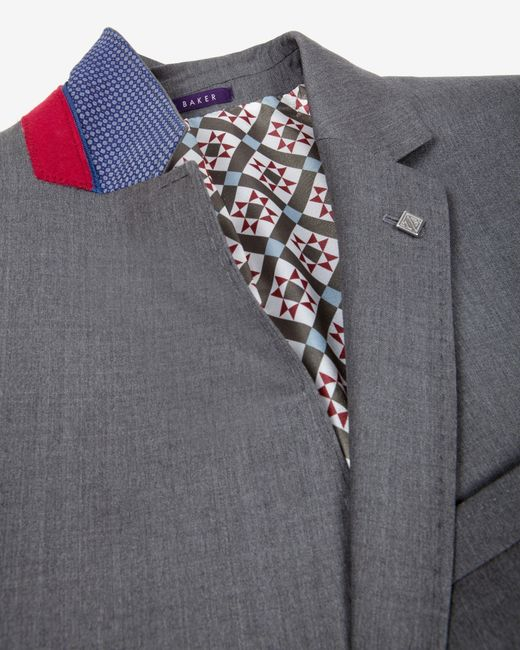 Ted Baker   Gray Wool Suit Jacket for Men   Lyst