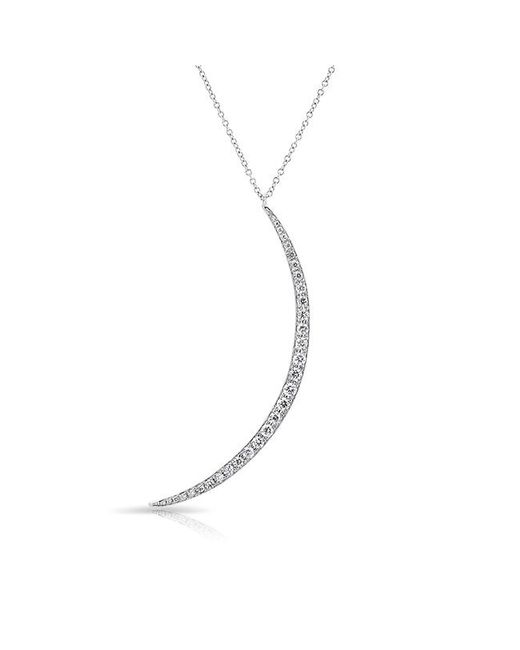 Anne Sisteron - Metallic 14kt White Gold Diamond Lunula Necklace - Lyst