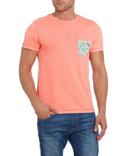Blend | Red Plain Crew Neck Regular Fit T-shirt for Men | Lyst