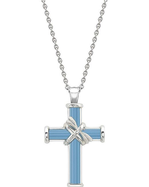 Theo Fennell | Sterling Silver And Blue Jade Meadow Cross Chain | Lyst