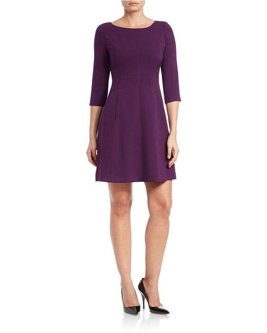 Vince Camuto Three Quarter Sleeve Fit And Flare Dress In