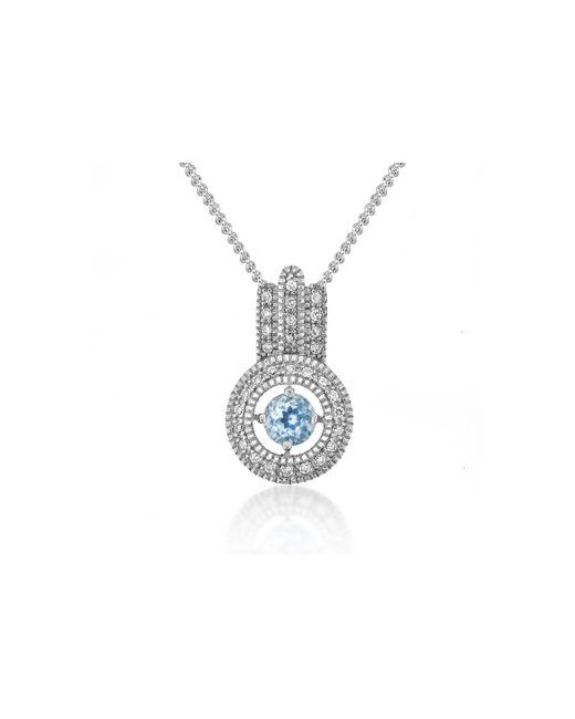 V Jewellery | Brilliance Blue Topaz Pendant | Lyst