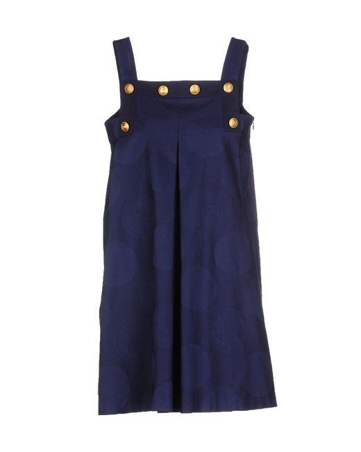 KENZO | Blue Short Dress | Lyst