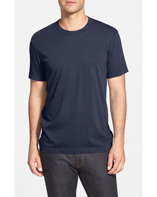 James perse crewneck jersey t shirt in blue for men space for James perse t shirts sale