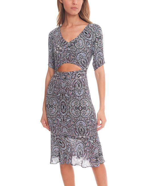 Charlotte Ronson   Blue Paisley Print Midriff Dress   Lyst