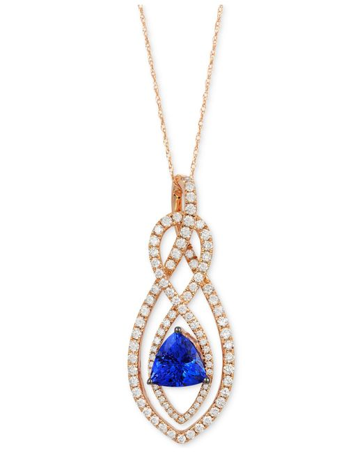 Le Vian | Pink Tanzanite (1-1/3 Ct. T.w.) And Diamond (1-1/3 Ct. T.w.) Pendant Necklace In 14k Rose Gold | Lyst