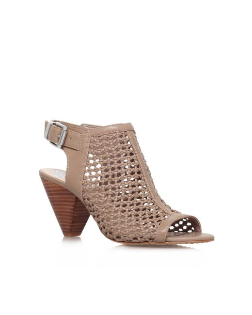 Vince Camuto | Brown Emilia High Heel Peep Toe Shoe Boots | Lyst