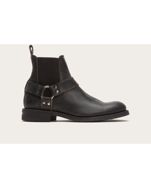 Frye | Black Veronica Shortie Distressed Leather Boots | Lyst