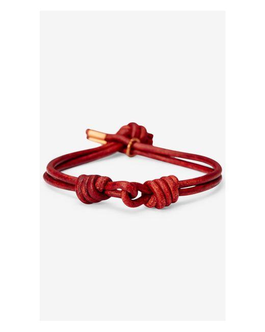 Express | Maritime Supply Co Red Captain's Link Bracelet for Men | Lyst