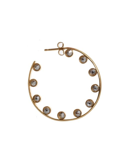 Ca&Lou | Metallic Crystal Hoop Earrings | Lyst