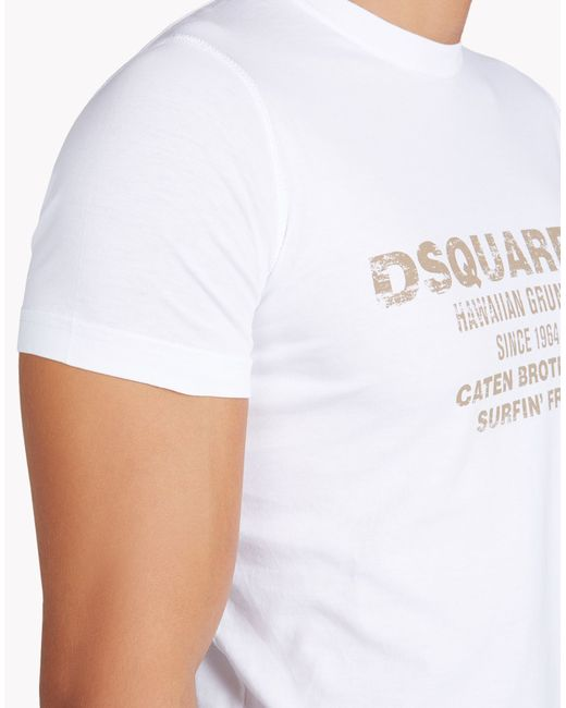 DSquared² | White 'dyed Rules' T-shirt for Men | Lyst
