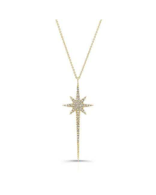 Anne Sisteron | 14kt Yellow Gold Diamond Star Wand Necklace | Lyst