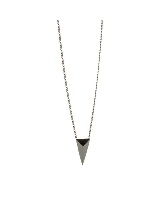 Alexis Bittar | Metallic Gunmetal Pyramid Pendant You Might Also Like | Lyst