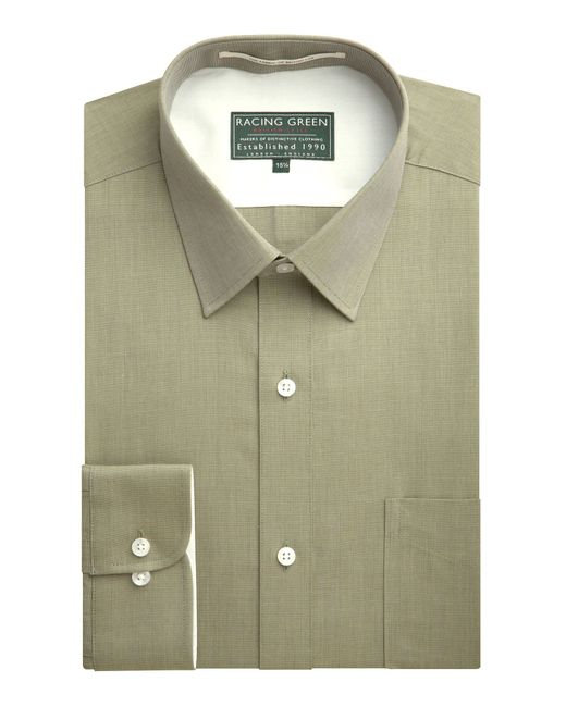 Racing Green | Green Jenson End On End Formal Shirt for Men | Lyst