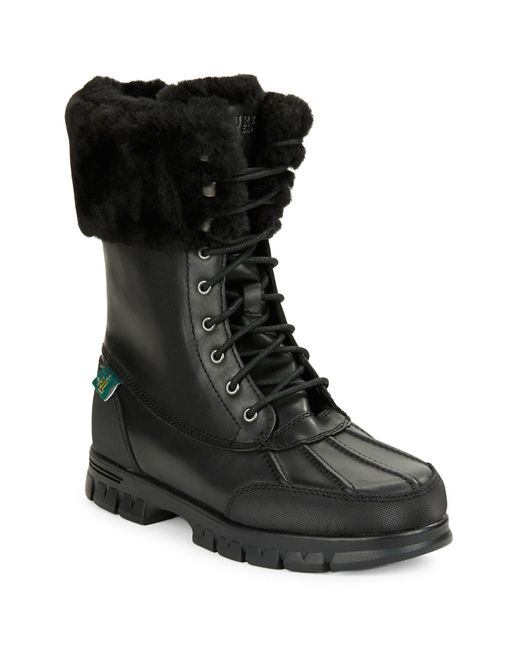 Lauren By Ralph Lauren Women S Quinta Snow Boots In Black