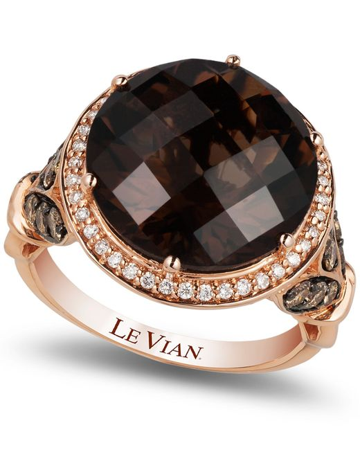 Le Vian | Pink Smokey Quartz (8 Ct. T.w.) And Diamond (3/4 Ct. T.w.) Ring In 14k Rose Gold | Lyst