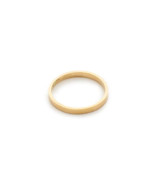 Blanca Monros Gomez | Metallic Flat Band Ring | Lyst
