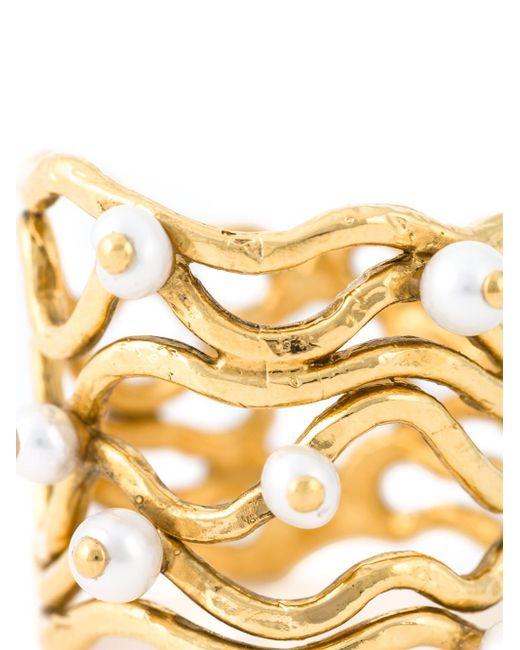 Aurelie Bidermann   Metallic 'cheyne Walk' Wire Ring   Lyst