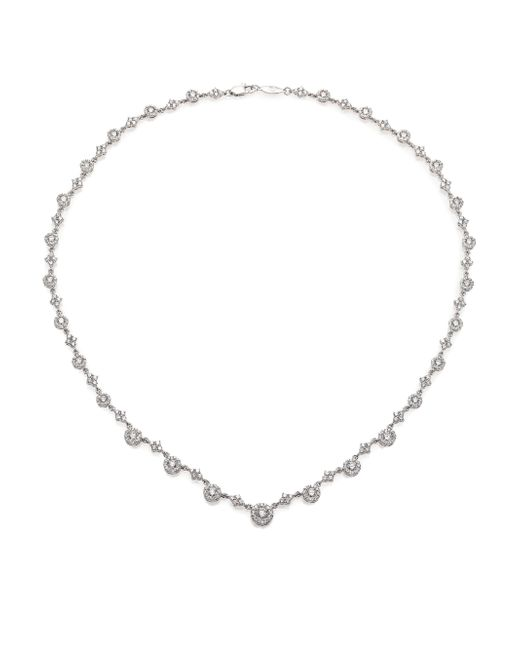 Kwiat | Sunburst Diamond & 18k White Gold Tennis Necklace | Lyst