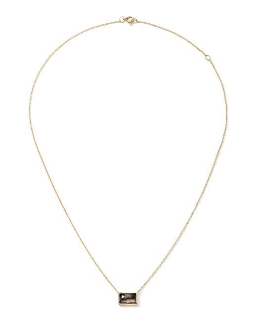Ippolita   Metallic 18k Gold Gelato Small Baguette Black Shell Necklace   Lyst