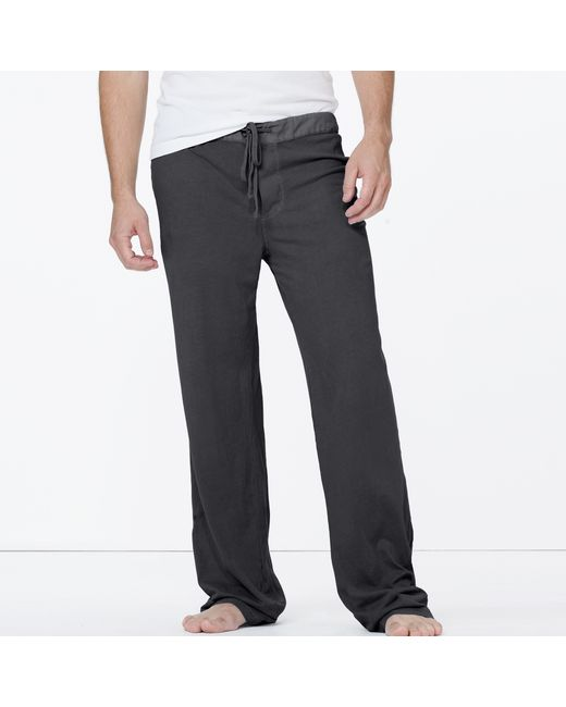 James Perse | Black Jersey Pajama Pant for Men | Lyst