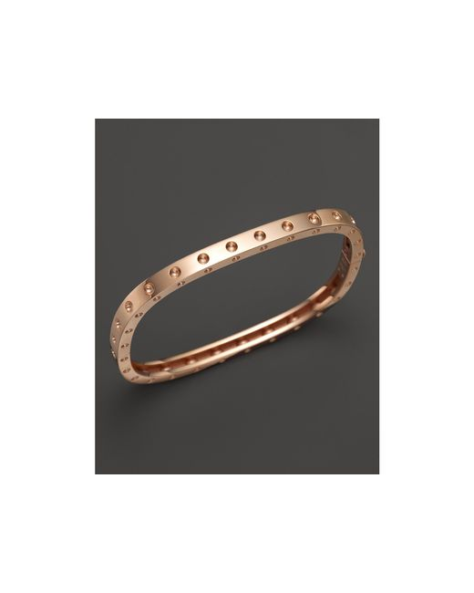 Roberto Coin | Pink 18k Rose Gold Pois Moi Single Row Bangle | Lyst