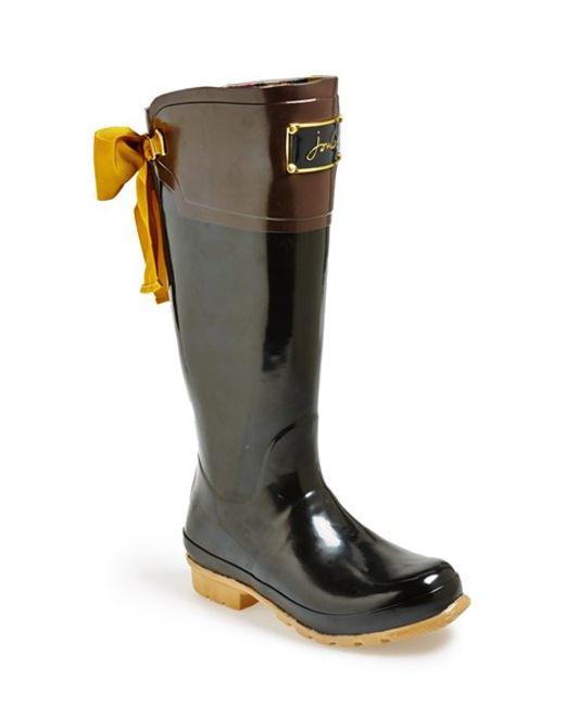 Joules | Black 'evedon' Rain Boot | Lyst