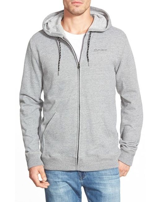 Jack O'neill | Gray 'jetty' Full Zip Fleece Hoodie for Men | Lyst
