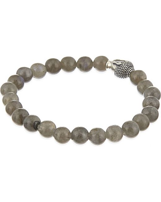 Nialaya | Gray Buddha Head Bracelet | Lyst